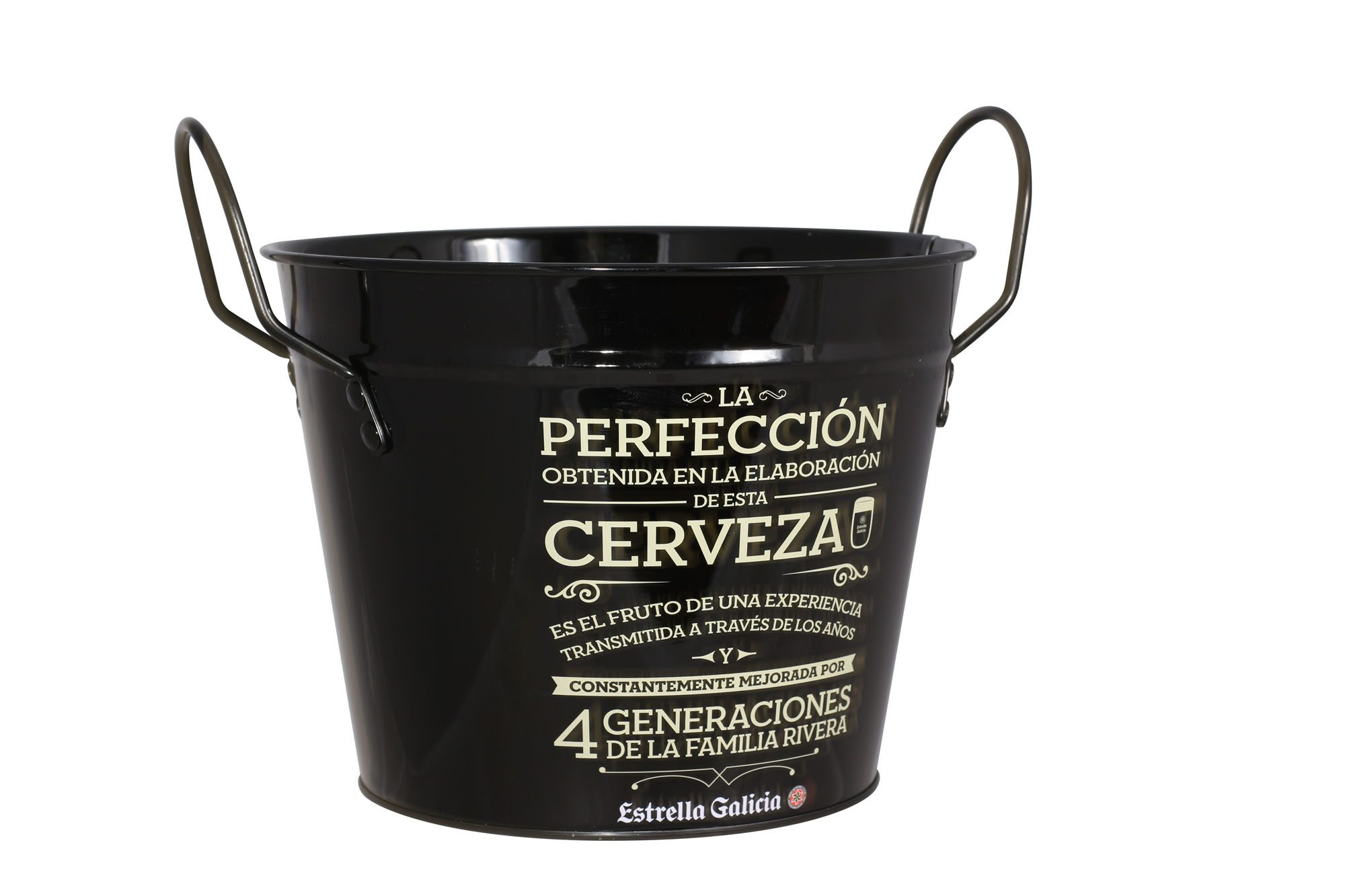 EGPOS59 Estrella Galicia Ice Bucket (Side View)